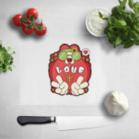 Hippie Love Cartoon Chopping Board - Hippie Gifts