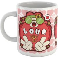Hippie Love Cartoon Mug - Hippie Gifts