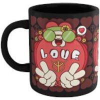 Hippie Love Cartoon Mug - Black - Cartoon Gifts