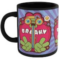 Hippie Psychedelic Cartoon Mug - Black - Hippie Gifts