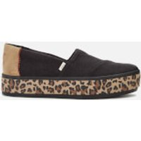 TOMS Women's Alpargata Boardwalk Flatform Pumps - Black - UK 5