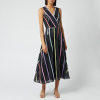 Olivia Rubin Women's Thea Dress - Black Thin Stripe - UK 8