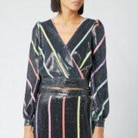 Olivia Rubin Women's Kendall Top - Black Thin Stripe - UK 10