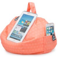 iBeani iPad Tablet, eReader Bean Bag Stand - Coral Geo - Computers Gifts