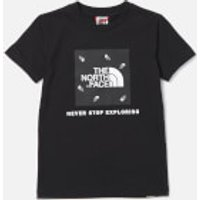 The North Face Boys Box Short Sleeve T-Shirt - TNF Black - M
