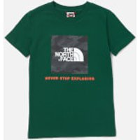 The North Face Boys Box Short Sleeve T-Shirt - Night Green - S