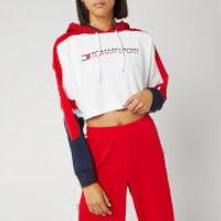 Tommy Hilfiger Sport Women's Flag Tape Crop Hoody - True Red - L