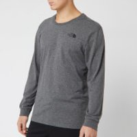 The North Face Men's Long Sleeve Simple Dome T-Shirt - TNF Medium Grey Heather - S