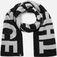 The North Face Men's Logo Scarf - TNF Medium Grey Heather/TNF Black