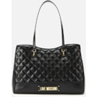 Love Moschino Quilted Shopper Bag - Black