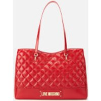 Love Moschino Quilted Shopper Bag - Red