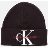 Calvin Klein Jeans Women's Basic Women Knitted Beanie - Black Beauty