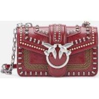 Pinko Women's Mini Love Mix Studs Bag - Port Red