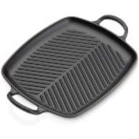 Le Creuset Signature Cast Iron Shallow Rectangular Grill - 30cm - Satin Black