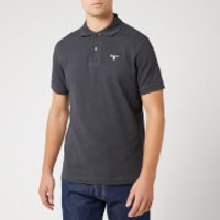 Barbour Men's Tartan Pique Polo Shirt - Navy/Dress - L