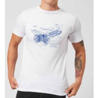 Shuttle Side View Schematic Men's T-Shirt - White - XXL - White