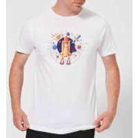 Blast Off Men's T-Shirt - White - XL - White