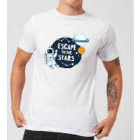 Escape To The Stars Men's T-Shirt - White - M - White - Stars Gifts