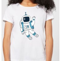 Astronaut Waving Women's T-Shirt - White - L - White