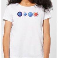 Planets Women's T-Shirt - White - S - White
