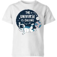 The Universe Is Calling Kids' T-Shirt - White - 7-8 Years - White