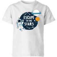 Escape To The Stars Kids' T-Shirt - White - 11-12 Years - White - Stars Gifts