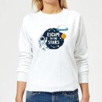 Escape To The Stars Women's Sweatshirt - White - S - White - Stars Gifts