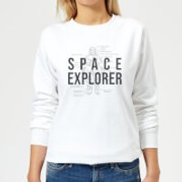 Space Explorer Schematic Women's Sweatshirt - White - 4XL - White