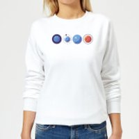 Planets Women's Sweatshirt - White - 4XL - White