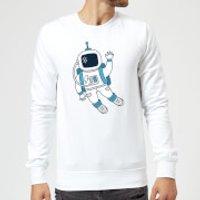 Astronaut Waving Sweatshirt - White - M - White