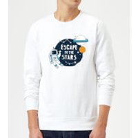 Escape To The Stars Sweatshirt - White - XXL - White