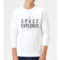 Space Explorer Schematic Sweatshirt - White - M - White - Space Gifts