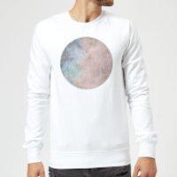 Colourful Moon Sweatshirt - White - M - White