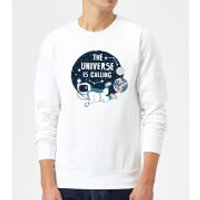 The Universe Is Calling Sweatshirt - White - L - White