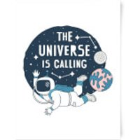The Universe Is Calling Art Print - A3