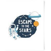 Escape To The Stars Art Print - A4