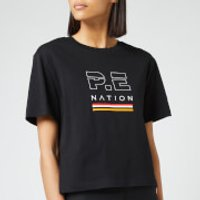 P.E Nation Women's Ignition Cropped Short Sleeve T-Shirt - Black - L