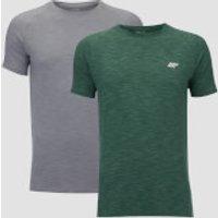 Performance 2 Pack T-Shirts - Green Marl/Grey Marl - XXL