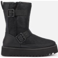 UGG Women's Classic Rebel Biker Short Boots - Black - UK 6