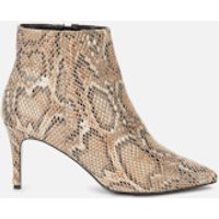 Dune Women's Obsessed Heeled Shoe Boots - Natural Reptile - UK 3