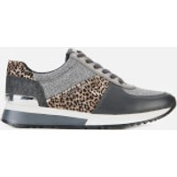 MICHAEL MICHAEL KORS Women's Allie Running Style Trainers - Black/Silver - UK 6