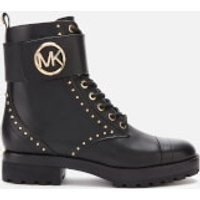 MICHAEL MICHAEL KORS Womens Tatum Leather Lace-up Boots - Black - UK 4
