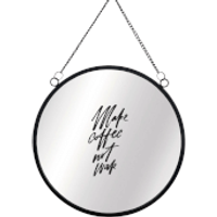 Make Coffee Not War Circular Mirror - Coffee Gifts