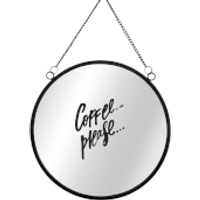 Coffee Please Circular Mirror - Coffee Gifts