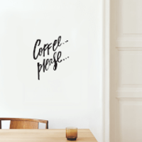 Coffee Please Wall Decal - Coffee Gifts