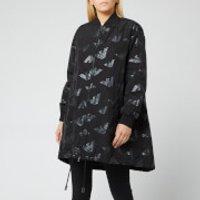 Emporio Armani Womens Logo Print Jacket - Black - IT 36/UK 4