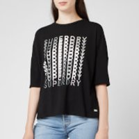 Superdry Women's Foil Graphic T-Shirt - Black - UK 10
