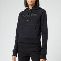 Helmut Lang Women's Raised Embroidery Standard Hoodie - Black Basalt - L