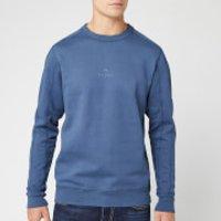 PS Paul Smith Men's Central Chest Logo Crew Sweatshirt - Grey/Blue - XXL