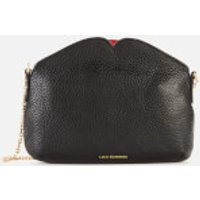 Lulu Guinness Womens Medium Peekaboo Lip Clutch Bag - Black